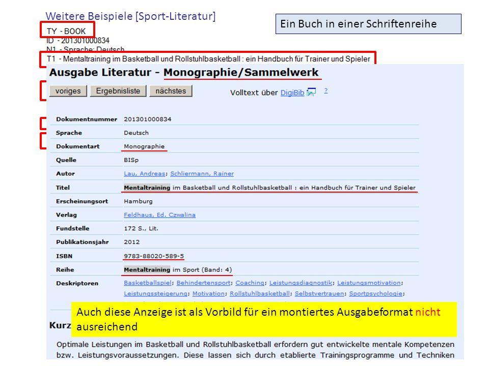 Weitere Beispiele [Sport-Literatur]